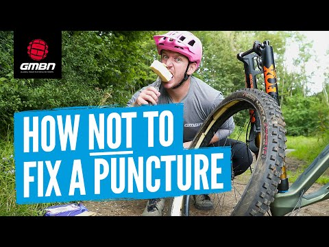 The Worst Ways To Fix A Flat Tyre   How Not To Fix A Mountain Bike Puncture