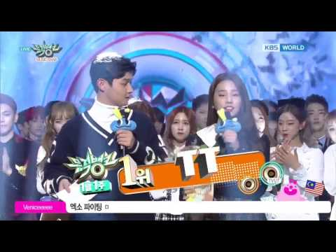 170106 No.1 TWICE  (TT) win BIGBANG ( fxxk it ) @ MUSIC BANK