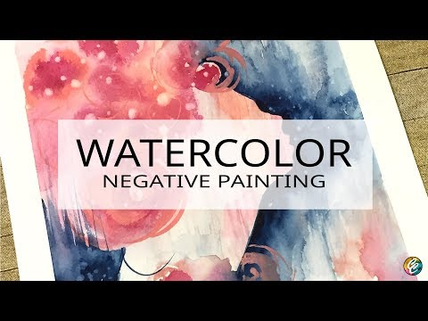 watercolor painting: carving out a face profile with negative painting