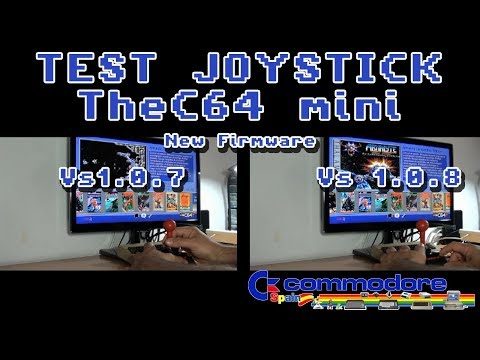 Test Joystick - TheC64 mini New Firmware v1.0.8