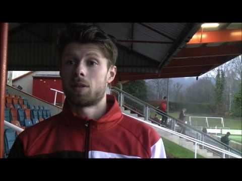 Double scorer Oswell speaking after Rhyl win