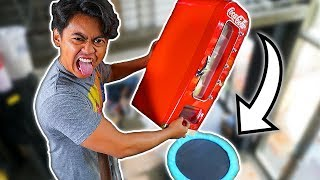 Coke Machine Vs Trampoline From 450cm! ~ Bounce
