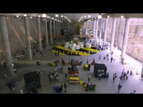 "Art Installation ""cha-cha ride"" at the Barangaroo Giant Picnic"