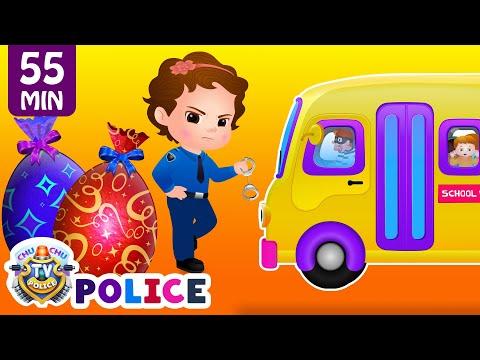 ChuChu TV Police Save School Children from Bad Guys in the School Van   ChuChu TV Surprise Eggs Toys