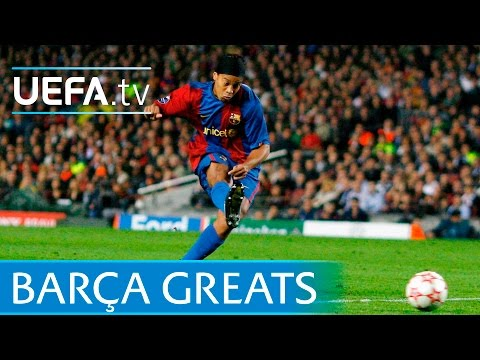 Messi, Koeman, Ronaldinho - Barcelona free-kick greats