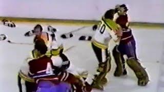 Canadiens vs Bruins brawl Nov 8, 1970