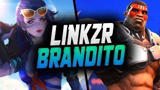 Amazing Widow LiNkzr and Insane Doomfist BRANDITO! [ OVERWATCH SEASON 13 TOP 500 ]