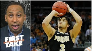 The refs 'made a mistake' by sending Purdue's Carsen Edwards to the line - Stephen A. | First Take