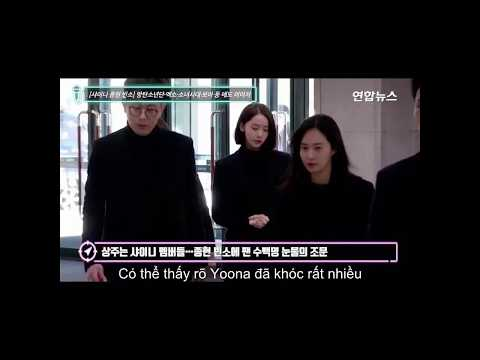 Taeyeon ,Yoona, Yuri, Hyoyeon, Seohyun arrived at Jonghyun's funeral hall with Lee Soo Man, BoA, EXO