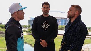 FIRST FACE OFF: Canelo Alvarez vs Billy Joe Saunders