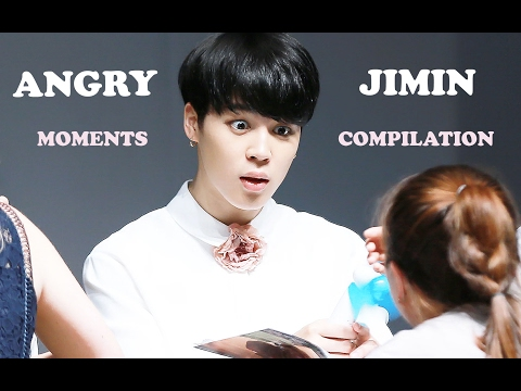 [COMPILATION] How BTS Jimin acts when he's angry or mad?
