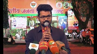 Reply To BJP  - Vijay Mass Speech about Mersal GST Issue    Vijay Thanks to his fans  