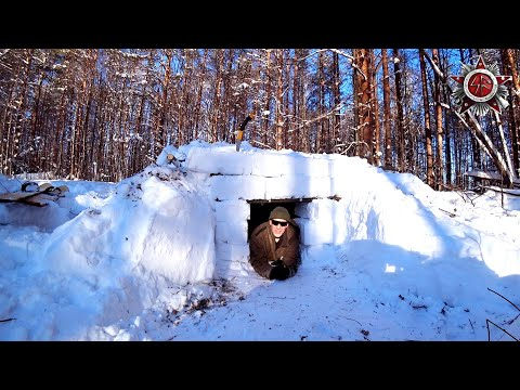 Survival Snow Shelter In -20C