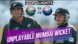 Unplayable Mumbai Wicket | New Zealand vs South Africa at Mumbai | Champions Trophy 2006 Highlights