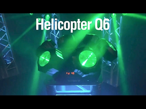 Chauvet DJ Helicopter Q6 Rotating Multi Effect Light with Beams, Strobe, and Laser