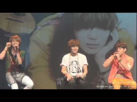 120419 SHINee's bbuing-bbuing at today's fanmeeting