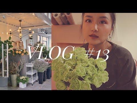 VLOG #13   谁不想拥有一间自己的花店   花店装修进度   整理花材   花店开业日常    LAYPomelo