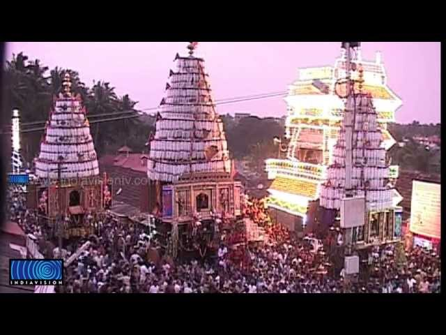 Visual treat as Holy chariot confluence on Kalppathy chariot festival