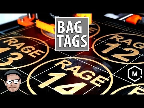 Practical Uses for 3D Printing: Athletic Bag Tags using Fusion 360 / Prusa / Matterhackers