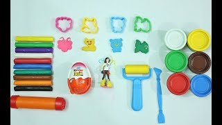 Color learning for kids   Children rhymes Play Doh molds fun with Surprise egg best learning video