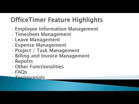 OfficeTimer | Not Just A Timesheet Software