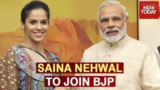 Badminton Star Saina Nehwal likely to join BJP today..