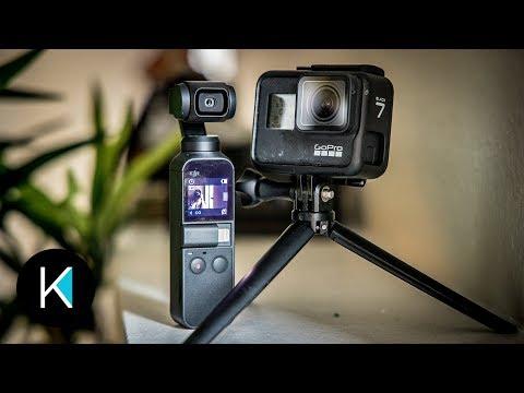 DJI Osmo Pocket VS. GoPro HERO 7 Black - VIDEO COMPARISON! (GIMBAL or HyperSmooth?)
