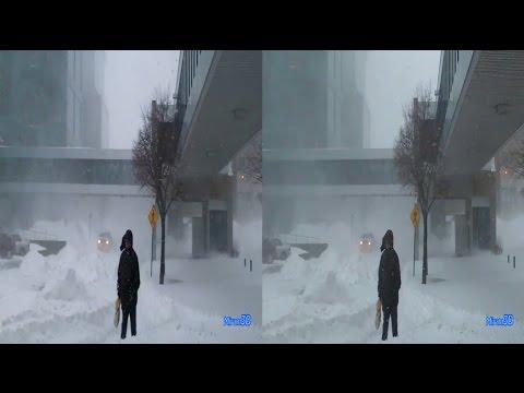 3D SBS VR - SNOW STORM, Longueuil
