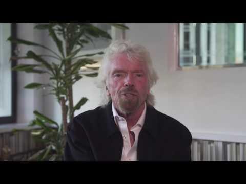 Richard Brandson supports mindfulness with Virgin Trains Beam