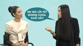 Hoàng Thùy ngả mũ thán phục Mai Phương Thúy với màn hướng dẫn trả lời câu hỏi ứng xử Miss Universe