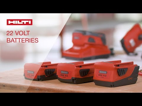 OVERVIEW of Hilti's 22V Li-ion battery packs