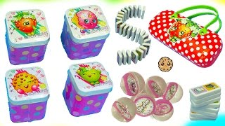 Shopkins Haul - Tin Box , Balls, Dominos, Season 3 Super Shopper Pack with Exclusives