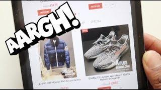 HOW TO SPOT FAKE DESIGNER CLOTHES WEBSITES.....FAST!