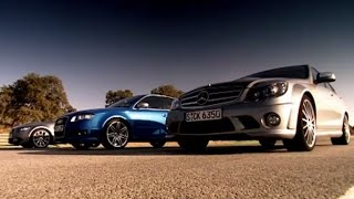 Drag Race: BMW vs Mercedes Vs Audi (HQ) | Top Gear | Series 10 | BBC