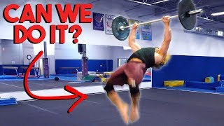 BACKFLIP WITH BAR & PLATES, HOW HARD IS IT?