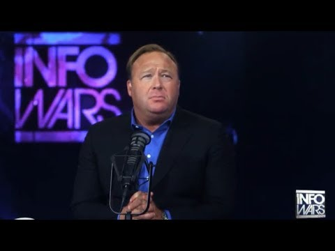 Alex Jones Declares His Love For The Establishment