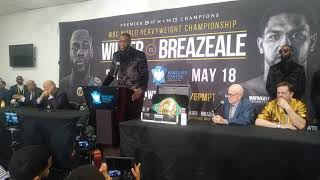Time 4 Joshua 2 Face his Fears!Deontay Wilder Post Fight Press Conference