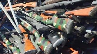 1,200 guns, dead body found in California