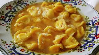 Pasta Grannies make cheese-filled cappelletti from Faenza
