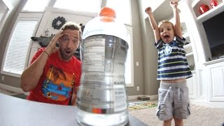 FATHER SON BOTTLE FLIPPING!