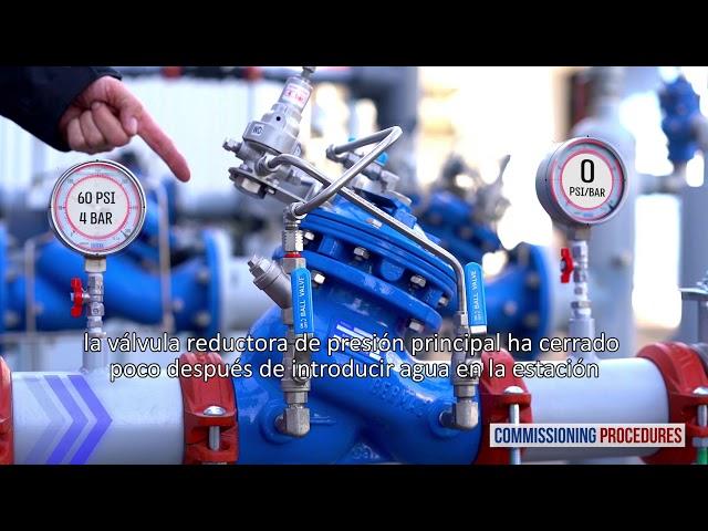 Estación reductora de presión en dos Etapas- Procedimiento puesta en marcha