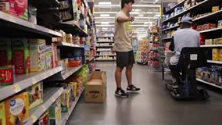 Knocking items into people's carts