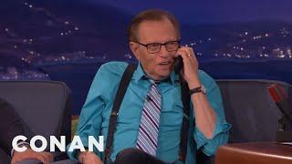 Larry King Still Rocks A Flip Phone – CONAN on TBS