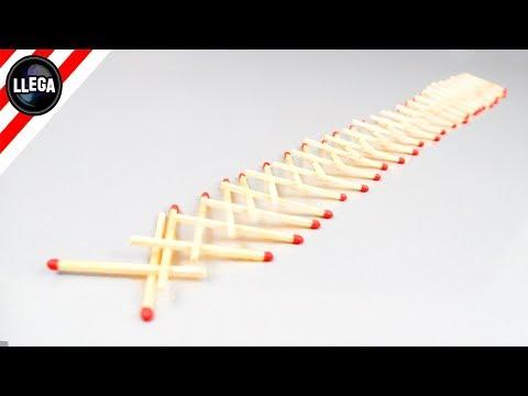 IMPOSIBLE Hacer Este Experimento Con Más de 50 Cerillas - Experimentos Caseros