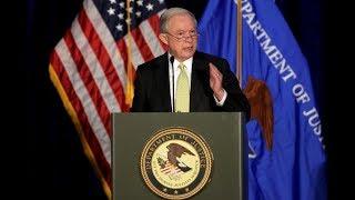 Attorney General Jeff Sessions speaks at DOJ Hate Crimes Summit