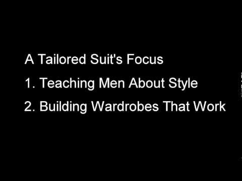 Welcome to A Tailored Suit - Message from Antonio