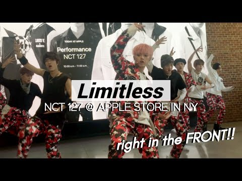 170625 NCT 127 『 LIMITLESS 』 @ APPLE STORE IN NEW YORK   IM SO CLOSE TO THEM!!