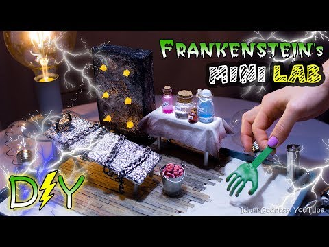 How To Make A Miniature Frankenstein's Laboratory Zen Garden – DIY Stress-Relieving Desk Decoration