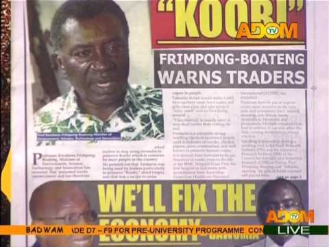 Badwam Newspaper Headlines on Adom TV (27-2-17)