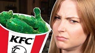 Green Fried Chicken Taste Test